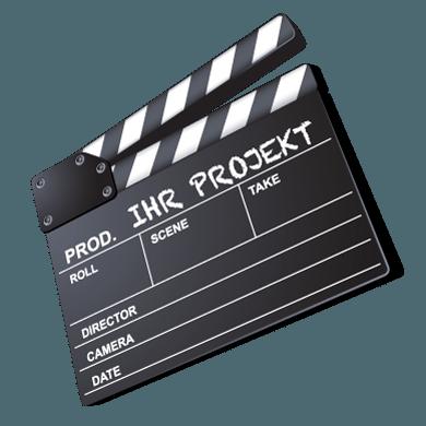Filmproduktion – Filmklappe